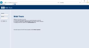 Aplikacja Web Tours na przeglądarce Internet Explorer