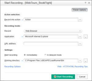 Start Recording – opcje nagrywania