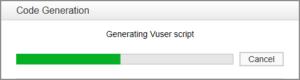 Zakończenie nagrywania - generowanie skryptu Vuser