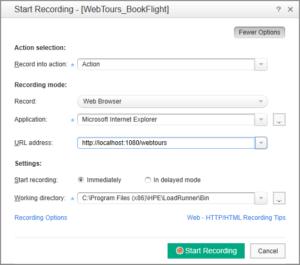 Start Recording – ustawienie opcje nagrywania