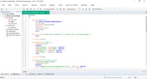 VuGen Edytor z kodem skryptu Vusera i zakładka Solution Explorer z aktywnym elementem Action.c